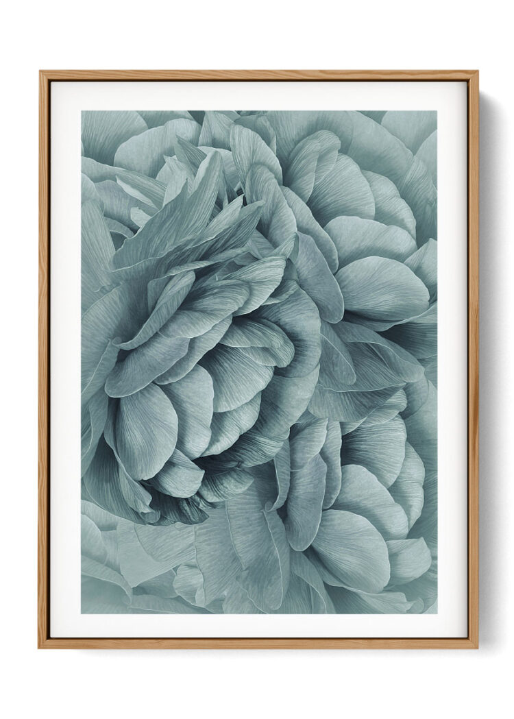 Bouquet of Turquoise Flowers Poster