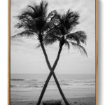 Coconut Tree On The Beach Poster