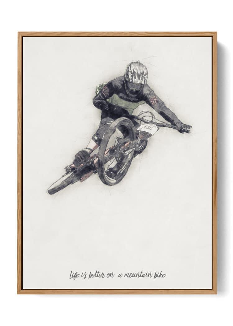 Downhill Mountain Bike Poster