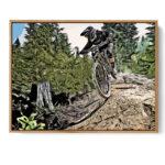 Enduro Mountain Bike Poster