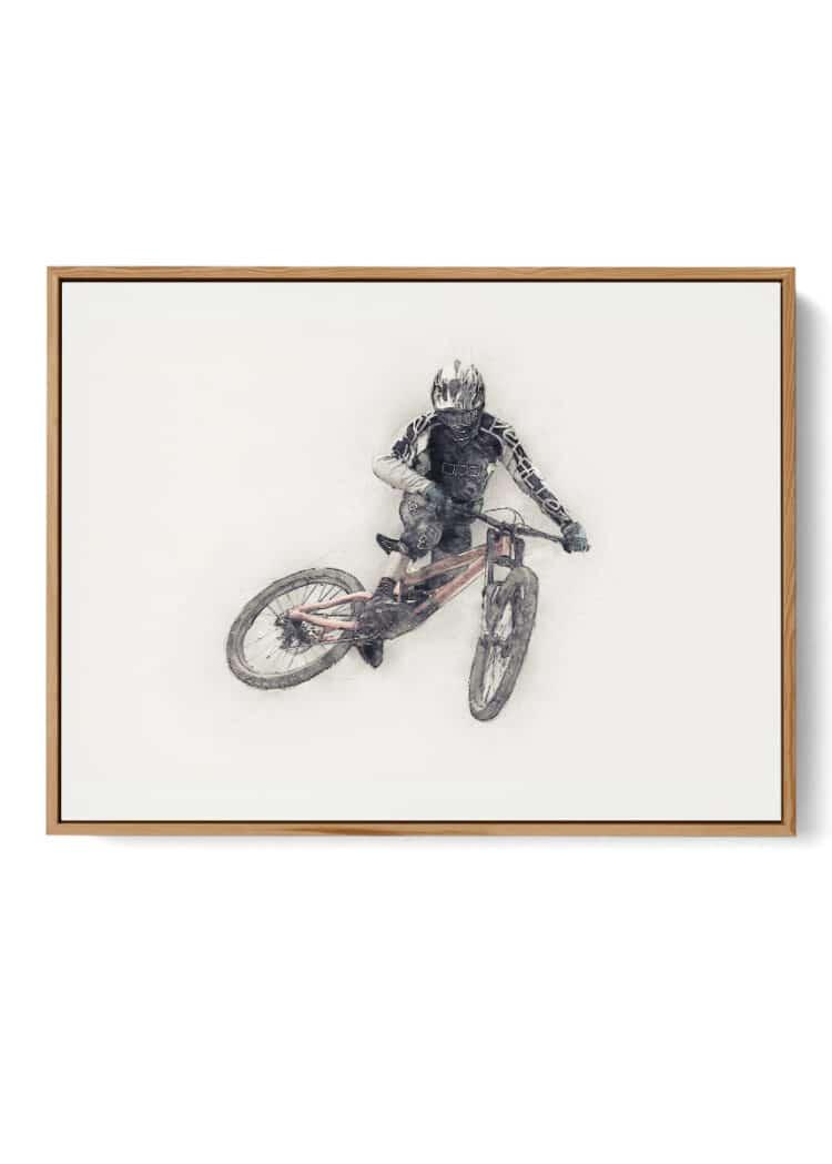 Mountain Bike Whip Poster