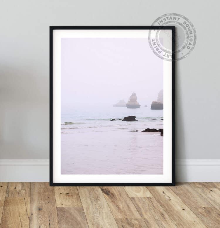 Rocks ocean Poster Noanahiko 0140