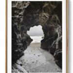 Sea Cave Malibu California Poster