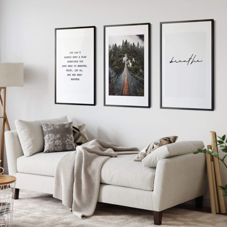 Set 3 Mountain Landscape quote Noanahiko Printable Wall Art 0166