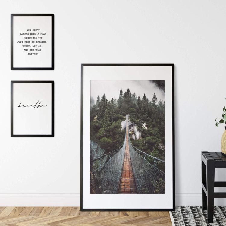 Set 3 Mountain Landscape quote poster print Noanahiko 0166