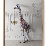 The Giraffe With A Chandelier Poster