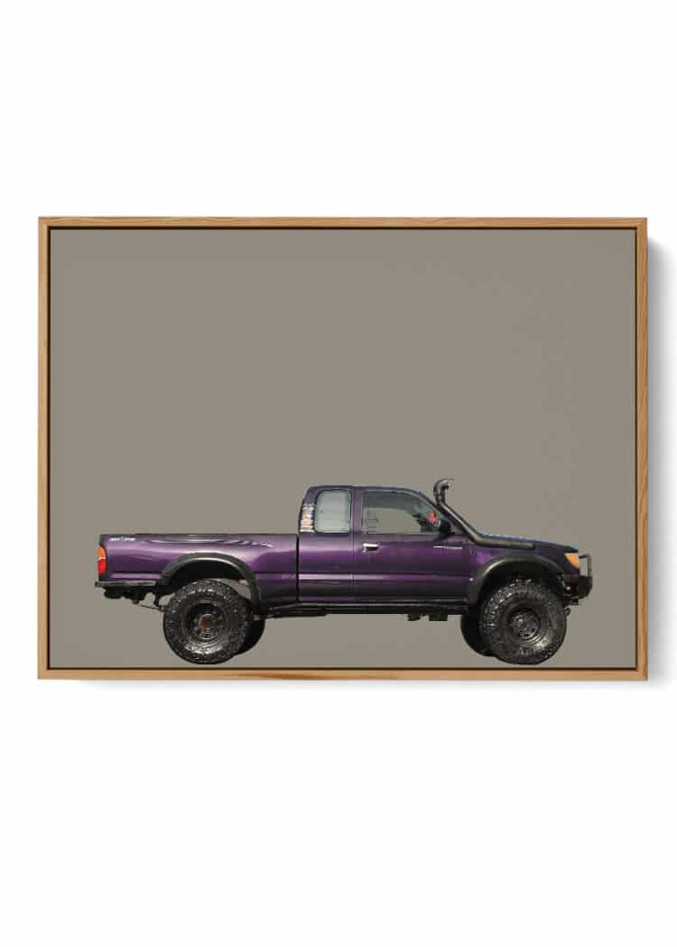 Toyota Tacoma 1998 Off Road Front Print