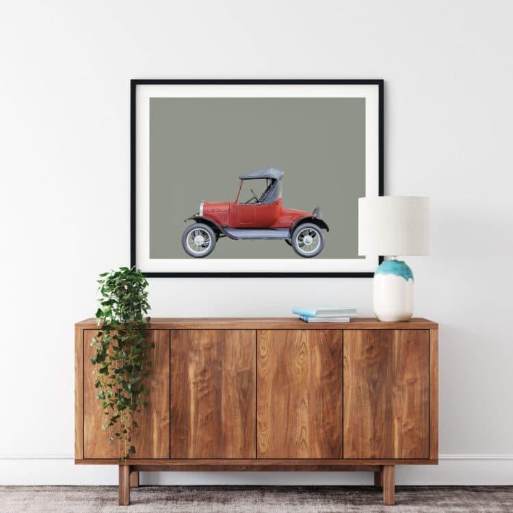 Ford Model T 1927 car art print Noanahiko Photo Print 0193