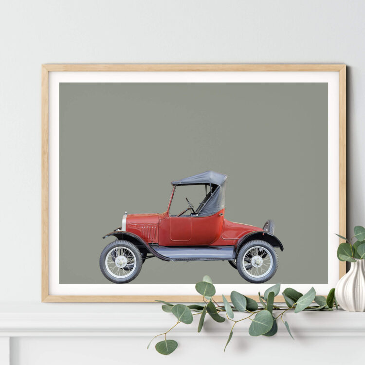 Ford Model T 1927 car art print Noanahiko Printable 0193