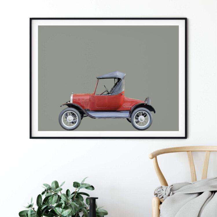 Ford Model T 1927 car art print Noanahiko Printable Wall Art 0193