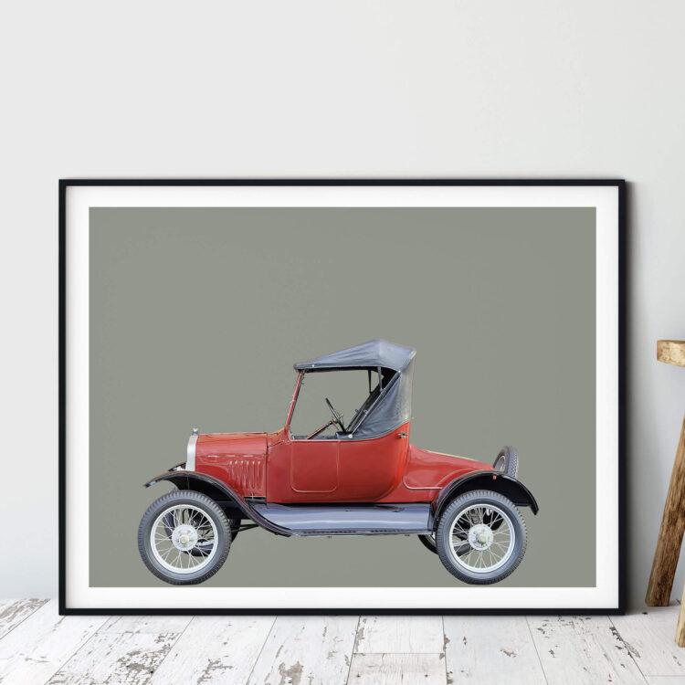 Ford Model T 1927 car art print Poster Noanahiko 0193