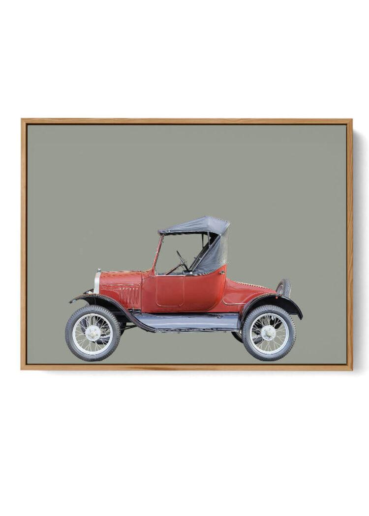 Ford Model T 1927 car art print Poster photography Noanahiko 0193