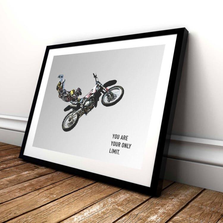Motorbike FMX Freestyle Noanahiko Art Print poster