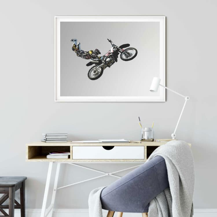 Motorbike FMX Freestyle Noanahiko Print