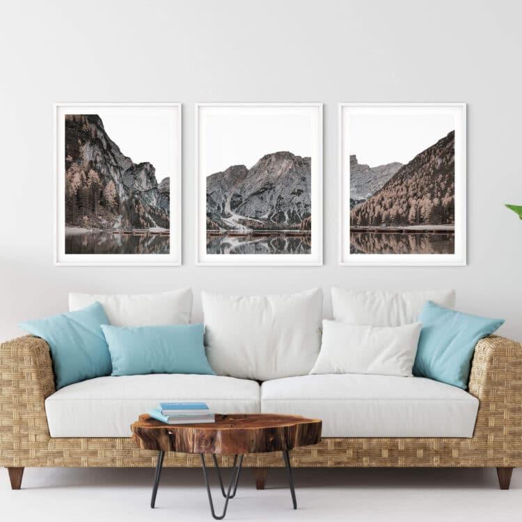 Mountain Lake Set Print Noanahiko Art Print 0197