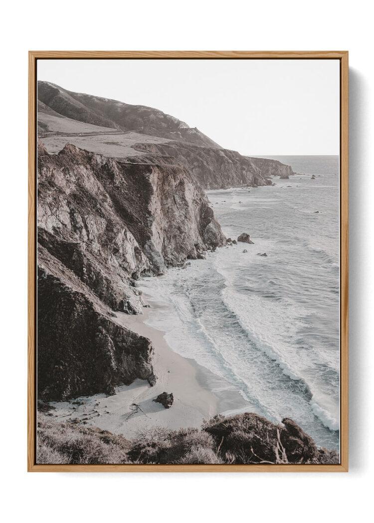 Ocean Cliff Noanahiko Art Print 0198