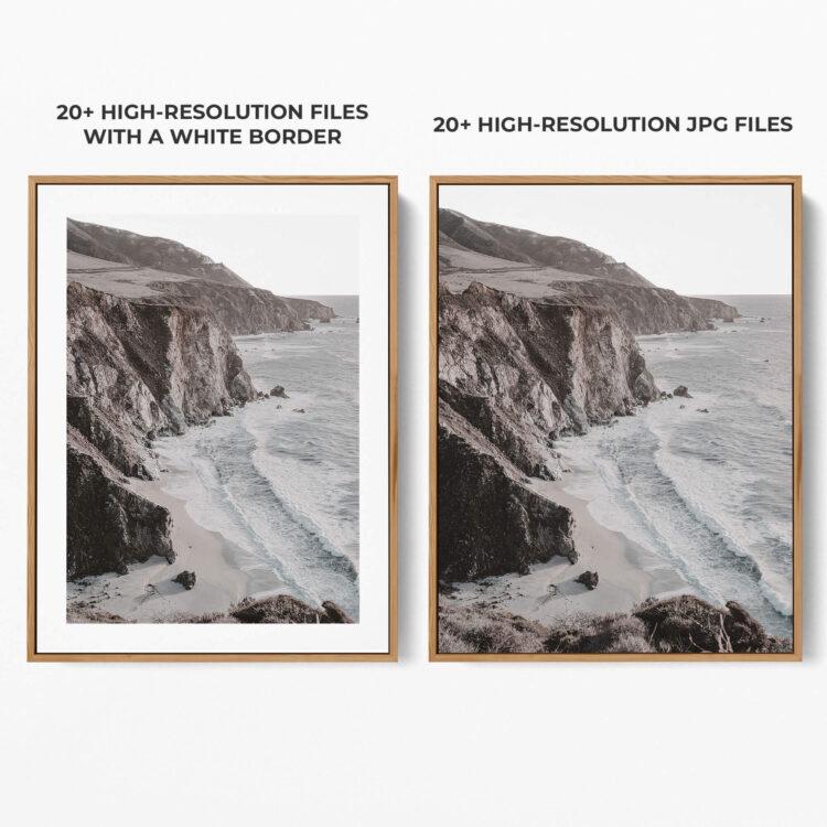 Ocean Cliff Noanahiko Photo Print 0198