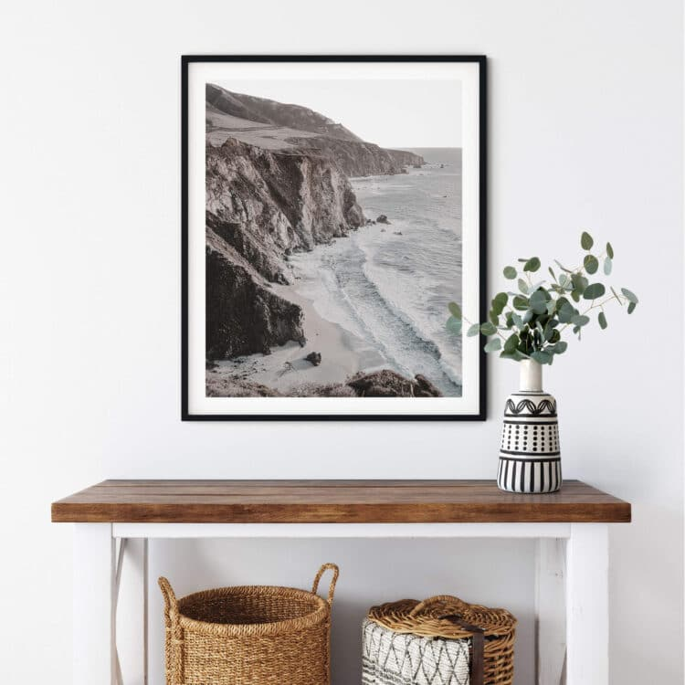 Ocean Cliff Poster photography Noanahiko 0198