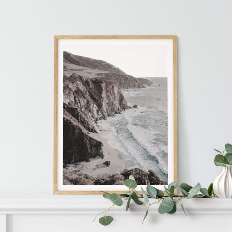 Ocean Cliff poster print Noanahiko 0198