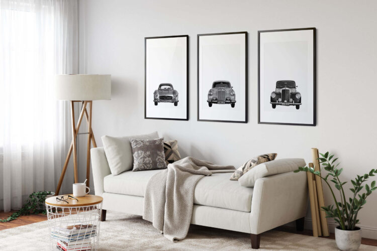 Set 3 Mercedes Benz car Noanahiko Printable Wall Art 0146
