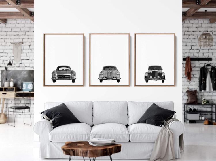 Set 3 Mercedes Benz car Noanahiko art 0146