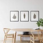 Set 3 prints Fern Leaves Noanahiko Printable Wall Art 0133