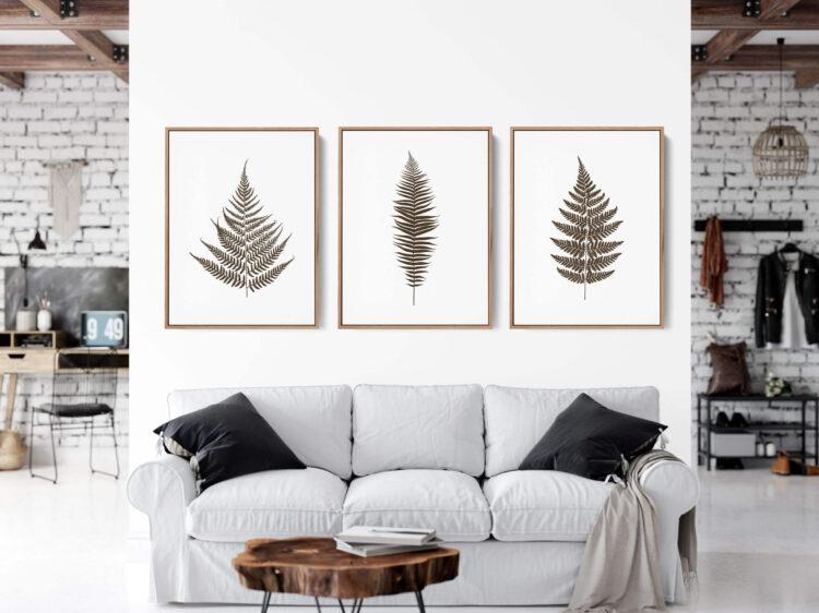 Set 3 prints Fern Leaves Noanahiko art 0133
