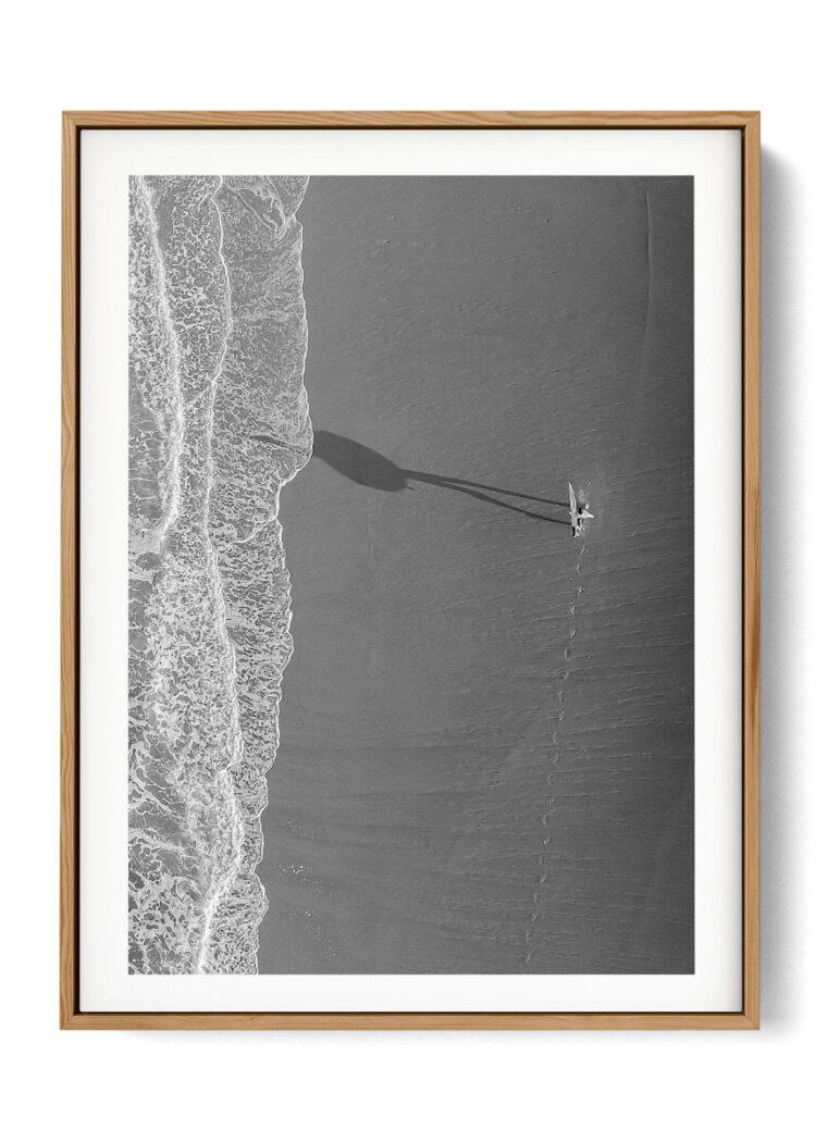 Surfer Beach poster print Noanahiko W 0130