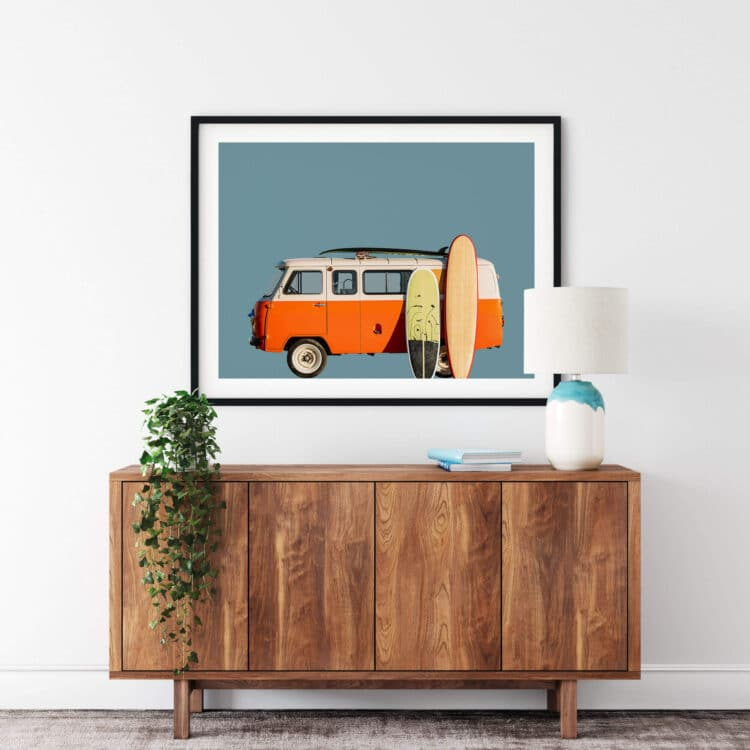 Vintage Retro Surf Van Noanahiko Printable Wall Art 0183