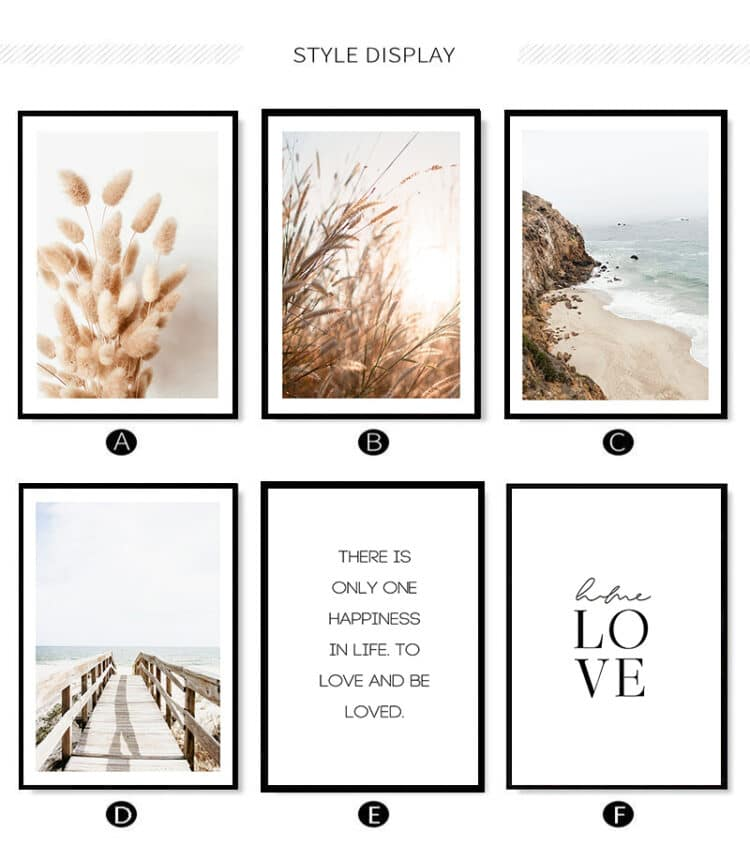 Scenery Grass Canvas Painting Wall Art